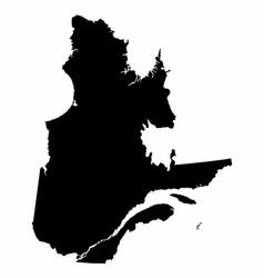 Quebec province dark silhouette map vector