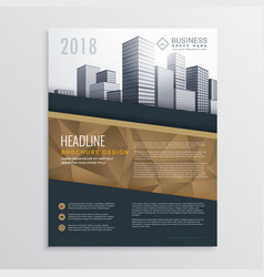 real estate brochure flyer template design vector image