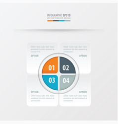 Rectangle presentation design orange blue gray vector