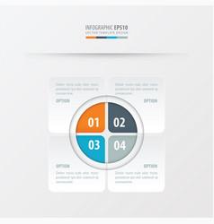 rectangle presentation design orange blue gray vector image vector image