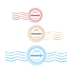 seal badge group set vector image