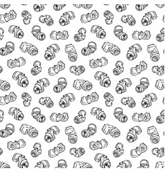seamless pattern of recyclable materials hand vector image