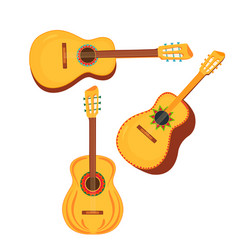 set traditional mexican musical instruments vector image