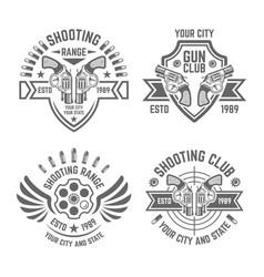 shooting range or club emblems vector image