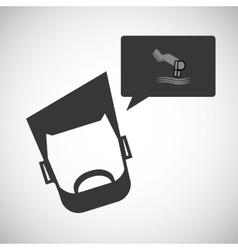Sport design man icon Flat vector image