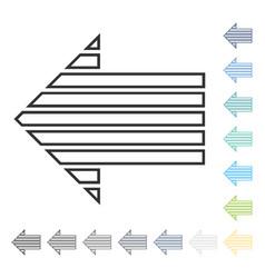 Stripe arrow left icon vector