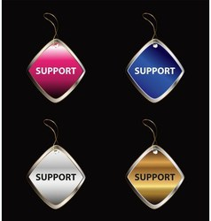 Support tag label vector