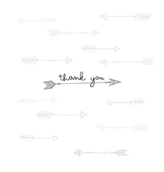 Thank you card with ethnic arrows in tribal style vector