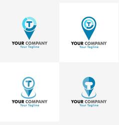 tracking logo vector image