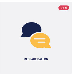 two color message ballon icon from ultimate vector image