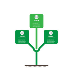 Vertical infographics or timeline with 3 three vector