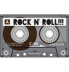 Vintage tape cassette with name on it vector
