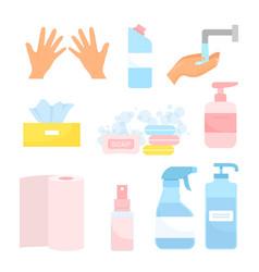 wash hands cartoon flat vector image