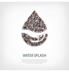 Water splash people sign vector