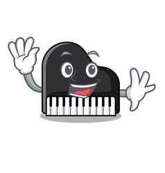 waving piano character cartoon style vector image
