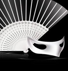 White halfmask and fan vector