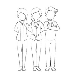isolated partners group vector image