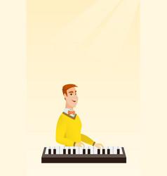 man playing the piano vector image vector image
