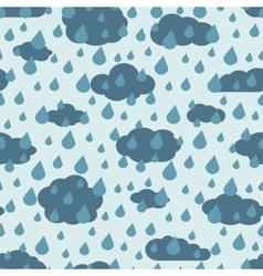 rainy weather seamless pattern vector image