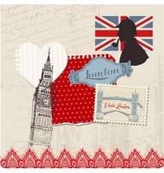 Scrapbook Design Elements - London Vintage Set vector image vector image