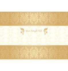 vector decorative frame gold vector image