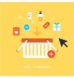 Add to Basket vector image