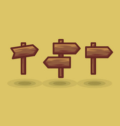 Icon tourist arrow signposts road to right vector