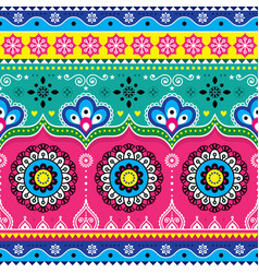 indian and pakistani truck art design jingle vector image vector image