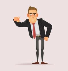Man businessman boss office worker pointing finger vector