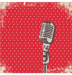 Microphone Dot vector image vector image