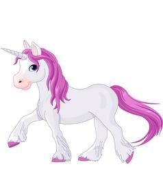 Quietly going unicorn vector image