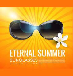 Stylish modern sunglasses template vector