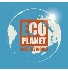 Banner eco planet vector