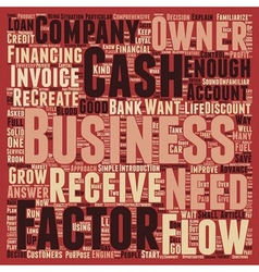 Cash flow the life blood of every business text vector