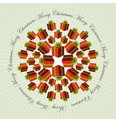 Christmas mandala background vector image vector image