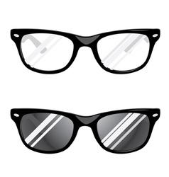 Hipster glasses vector
