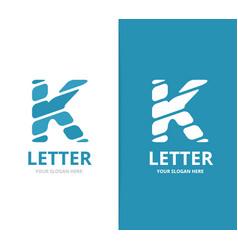 unique letter k logo design template vector image