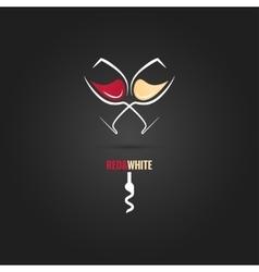 wine glass concept design background vector image