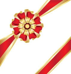 Christmas box gift ribbon vector image vector image