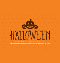 halloween collection background style design vector image