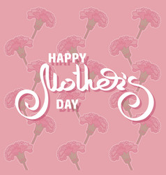 Happy mothers day greeting card with pink vector