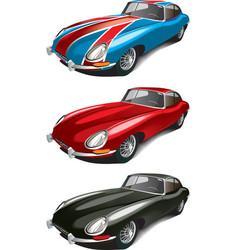 retro English sport car set vector image vector image