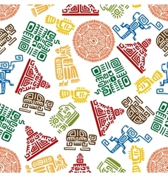 Seamless pattern of mayan and aztec ornament vector image vector image