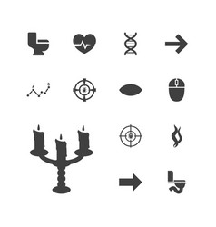 13 curve icons vector