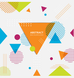 abstract colorful geometric triangles circles vector image