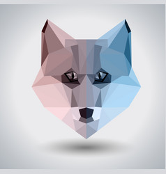 abstract polygonal tirangle animal fox hipster vector image