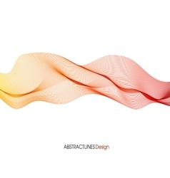 Abstract red Lines Design vector image