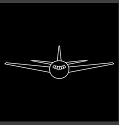 airplane the white path icon vector image