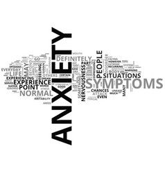 Anxiety symptoms what anxiety is and what its vector