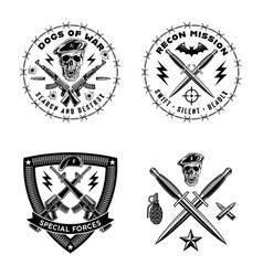 army emblems set vector image